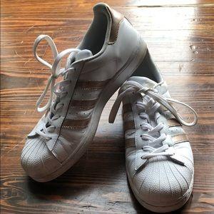 Women's adidas shell toe Rose Gold